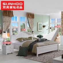 双虎家私浪漫田园卧室家具套装1.5米1.8米双人板式床套餐组合13M1