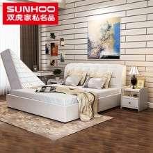 双虎家私欧式皮艺床1.5米双人床1.8米奢华卧室家具套装组合RC1