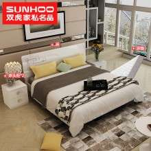 双虎家私卧室家具组合1.5m床现代简约双人床1.8m大床主卧婚床b6-J