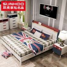 双虎家私智能家具现代简约双人床大床主卧室板式床组合套装15ZN1