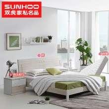 双虎特惠大床1.5米床双人床1.8米现代简约婚床卧室家具TBS3