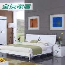 全友家居 现代简约1.5米1.8米板式床双人床卧室家具组合106905