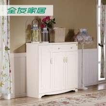 全友家居韩式田园鞋柜 哑光象牙白鞋柜 超大储物鞋柜120665新品