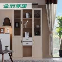 全友家居现代简约木质家用卧室三门书柜书橱书房家具 120905A