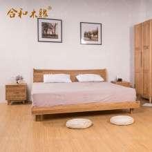 【合和木缘】北欧白橡木家具卧室家具插座床GY-XA01