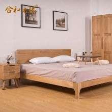 【合和木缘】北欧白橡木家具卧室家具双人床GY-XA03