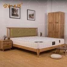 【合和木缘】北欧白橡木家具卧室家具软包床GY-XA05