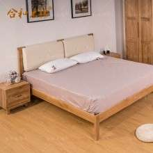 【合和木缘】北欧白橡木家具卧室家具双用床GY-XA04
