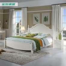 全友家私 现代韩式田园双人床板式床1.5m-1.8m床套装120613