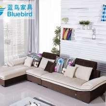 蓝鸟客厅中小户型布艺沙发组合可拆洗布沙发三人田园现代简约特价