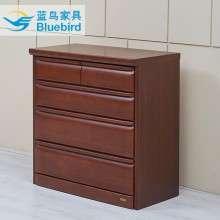 蓝鸟实木框架五斗柜卧室斗柜客厅收纳储物柜五斗橱美式简约现代