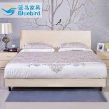 蓝鸟双人床板式大床简约现代2米1.8米高箱床经济型储物式主卧床铺