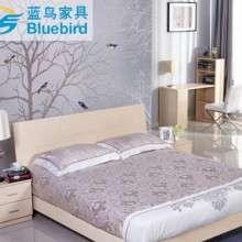蓝鸟卧室成套家具1.8米床+衣柜床头柜 组合家具板式订制4件套特价