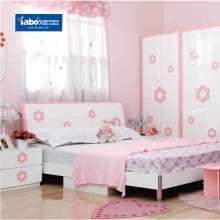 雅宝成套家具粉色儿童套房 女孩公主房组合家具1.5米单人床床头柜