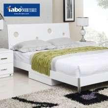 雅宝床1.2 1.5米板式双人床韩式床低高箱气动储物实木床类