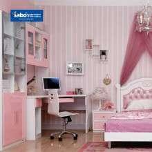 雅宝儿童房家具 成套女孩套房 多功能书柜书架组合 两门开门衣柜