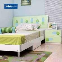 雅宝儿童家具成套卧室家俱组合 1.2米单人儿童床 多功能书桌衣柜