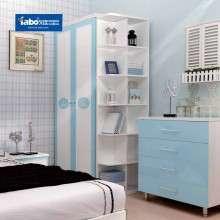 雅宝卧室儿童家具 现代简约儿童衣柜 两门平开门衣柜组合衣橱