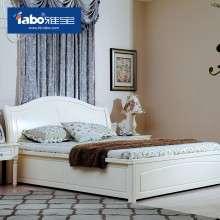 雅宝家具 公主床实木床美式欧式双人床1.5 1.8米气动高箱储物婚床