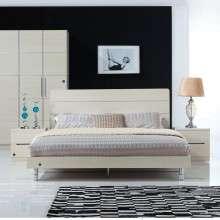 雅宝家具床现代简约板式床1.5 1.8米双人床气动高箱床 储物床