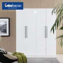雅宝家具烤漆衣柜两门简约现代板式衣柜简易四门大衣橱白亮光001