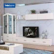 雅宝家具欧式电视柜 简约风格视听柜 实木客厅装饰柜组合收纳柜子