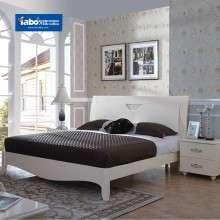 雅宝家具卧室双人低箱床简约床头柜组合 1.8米板式床1.5m欧式床