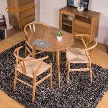 【合和木缘】北欧白橡木家具餐厅家具圆餐桌GY-XZ12