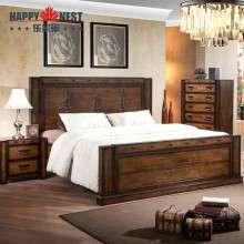 乐家巢家具 原装进口2米实木结婚大床环保双人床简约大床卧室成套