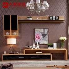 a家家具 简约现代实木电视柜组合客厅壁挂大小户型可伸缩储物地柜