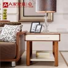 A家家具 时尚简约小户型沙发边几小角几客厅清新浅桦木实木小茶几