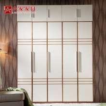 A家家具 现代简易实木衣柜组装衣柜两门三门五门组合衣柜整体衣橱