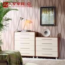A家家具 现代简约白色斗柜屉柜储物收纳柜四斗柜五斗柜六斗柜组合