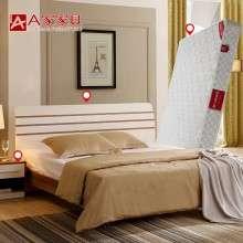 a家家具 现代简约板式大床双人床1.8米1.5卧室家具组合婚床三件套