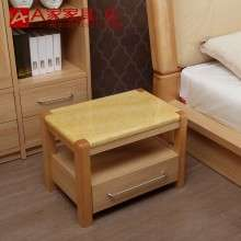 A家家具 现代简约实木床头柜大理石床头抽屉置物柜耐擦洗卧室家具