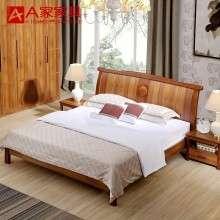a家家具 现代简约新中式实木床1.8米1.5卧室婚床成人橡木床双人床