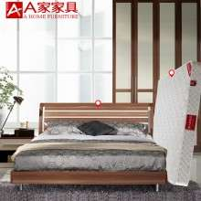 a家家具 现代简约中式实木床1.5米1.8架子床婚床卧室双人床高箱床