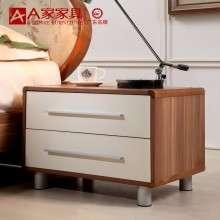 A家家具卧室床头柜 实木组装简约小床头橱中式原木床边柜抽屉储物