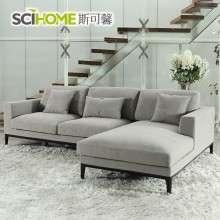 斯可馨小户型日式布沙发贵妃组合可拆洗客厅现代简约布艺沙发179B