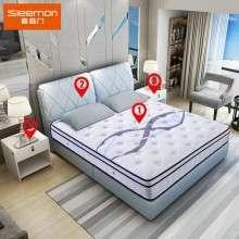 喜临门美人鱼套餐 美人鱼床垫1张+1.8X2米玛格丽特皮床+2个床头柜
