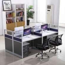 办公家具办公桌4人位组合屏风隔断6人职员卡座办公室员工电脑桌椅ZP007