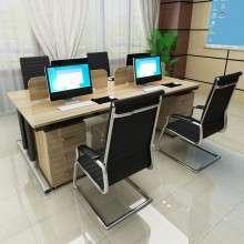 简约现代职员办公桌4人位2人位屏风员工桌多人隔断办公桌椅组合Z1003