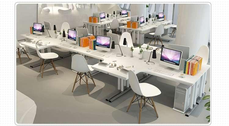办公桌二人组歌曲_双人职员办公桌L型电脑桌椅转角简约屏风卡座2-4-6四人组合工作 ...