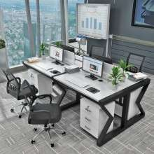 职员办公桌4人位电脑桌椅组合简约办公家具2-4-6人工作位屏风卡座Z1002