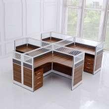 职员办公桌简约现代屏风桌员工桌卡位工作桌椅组合隔断办公家具ZP005