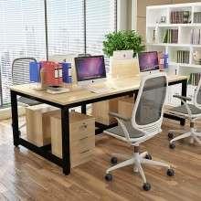 职员办公桌四人位屏风卡座简约现代员工多人电脑桌椅组合2-4人位Z1008