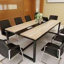 会议桌长桌简约现代长方形工作台洽谈培训桌简易多人位职员办公桌HY002