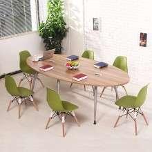 会议桌简约现代椭圆桌时尚 员工培训桌办公桌小型会议桌洽谈桌QT001