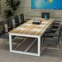 会议桌现代简约长桌培训桌工作台长方形桌子会议桌椅组合办公桌椅HY009