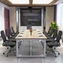 简约现代大班台会议桌办公桌会议长桌长方形培训桌会议桌大电脑桌HY001